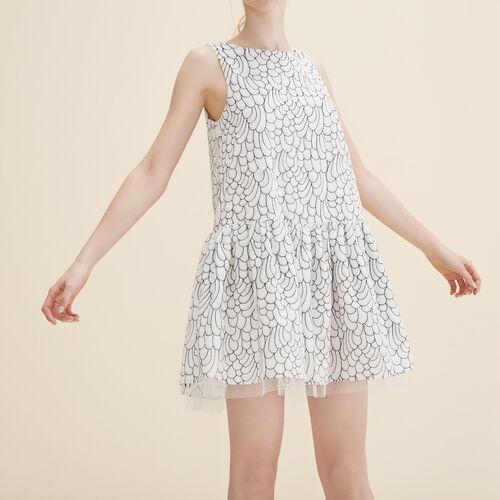Vestido bordado sin mangas - Vestidos - MAJE