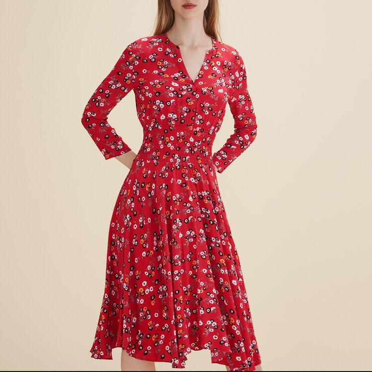 Vestido de largo medio estampado - Vestidos - MAJE