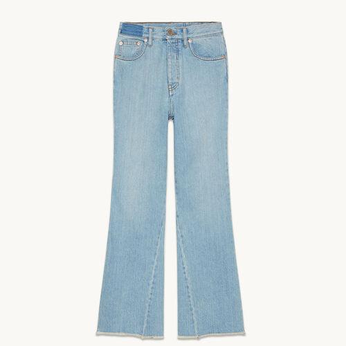 Vaquero acampanado de algodón - Jeans - MAJE