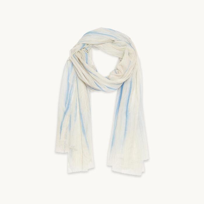 Estola de algodón con estampado - Pañuelos y Bufandas - MAJE