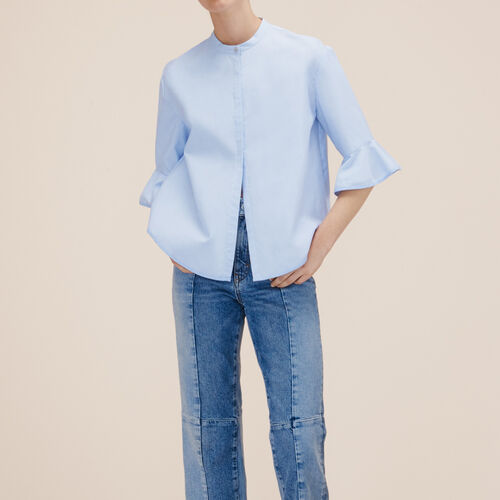 Camisa a rayas de popelina - Tops - MAJE