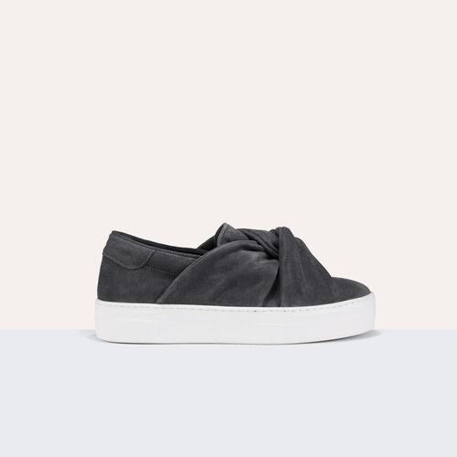 Zapatillas deportivas de ante con lazo - Zapatos - MAJE