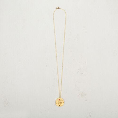 Collar con medalla martillada - Bisuteria - MAJE