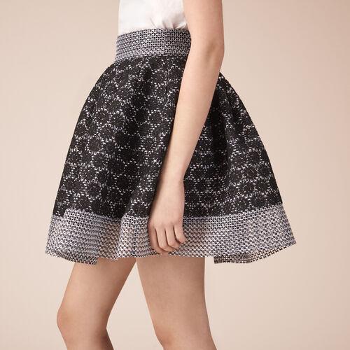 Falda de patinadora de encaje - Faldas y shorts - MAJE