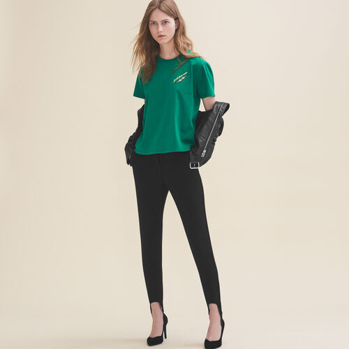 Camiseta bordada Jueves - Tops - MAJE