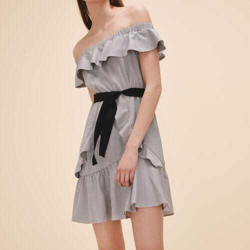 Vestido corto a rayas - Vestidos - MAJE