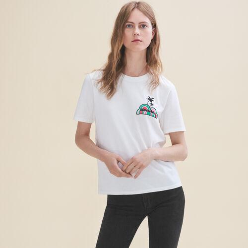 Camiseta bordada Domingo - Tops - MAJE