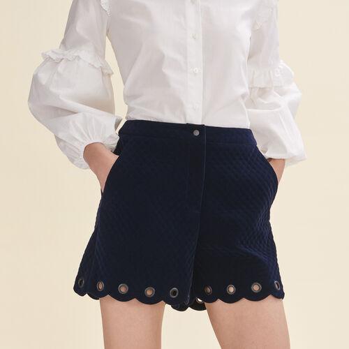 Short de terciopelo acolchado - Faldas y shorts - MAJE