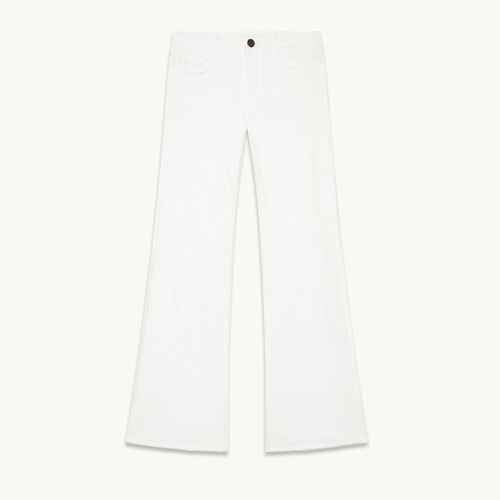 Vaquero acampanado de algodón stretch - Jeans - MAJE