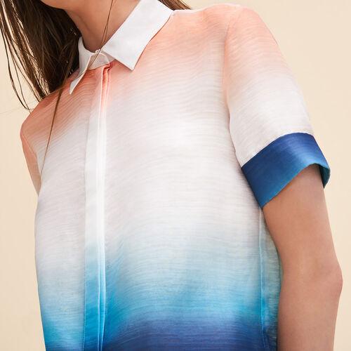Camisa con estampado teñido anudado - Tops - MAJE