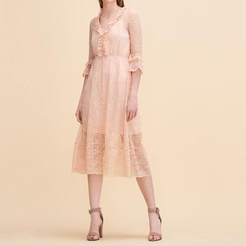 Vestido largo de encaje - Vestidos - MAJE