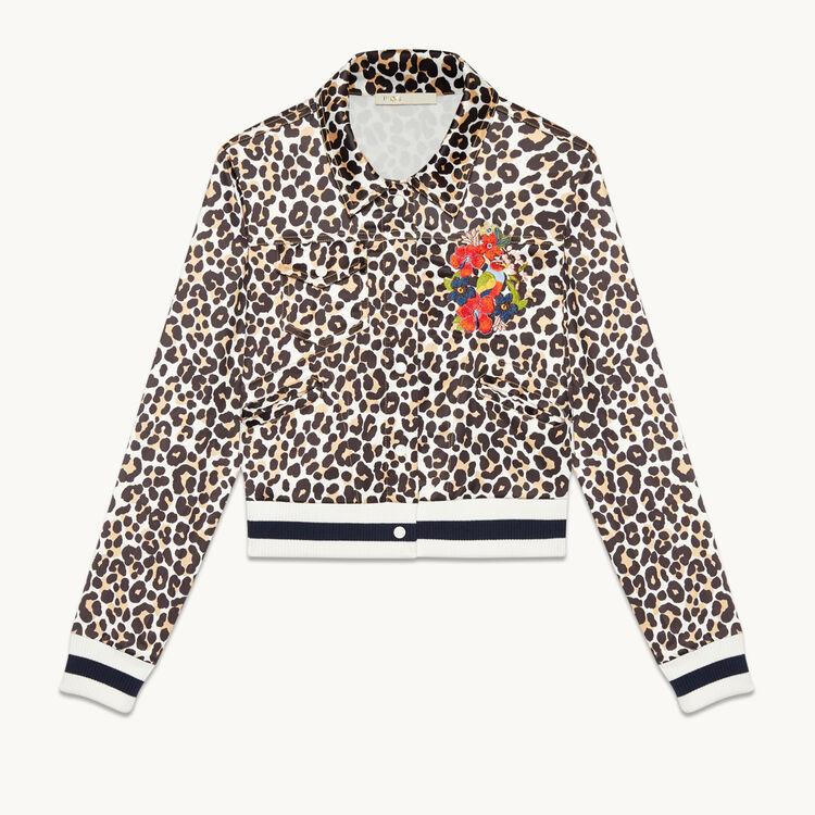 Chaqueta corta con estampado de leopardo - Chaquetas - MAJE