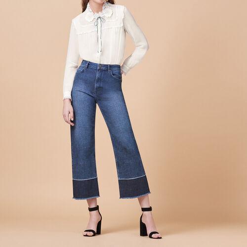 Vaquero ancho con flecos - Jeans - MAJE