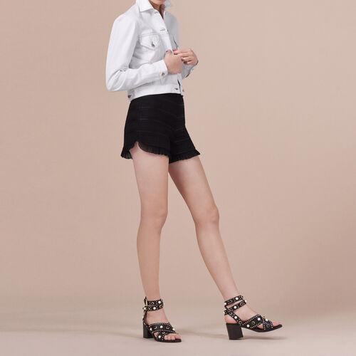 Short de talle alto con volantes - Faldas y shorts - MAJE