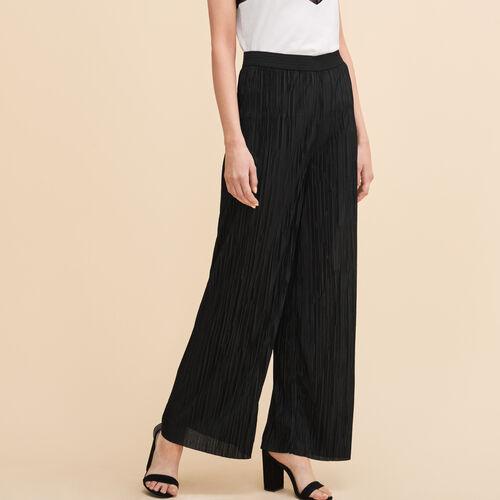 Pantalón plisado reversible - Pantalones - MAJE