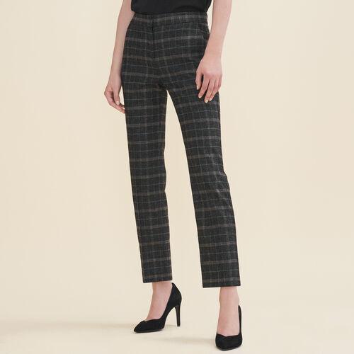 Pantalón pitillo de tartán - Pantalones - MAJE