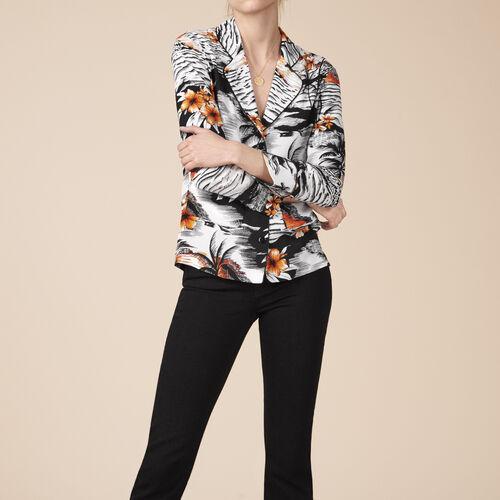 Camisa estilo pijama estampada - Tops - MAJE