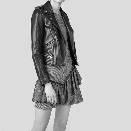 Falda de jacquard con volantes - Faldas y shorts - MAJE