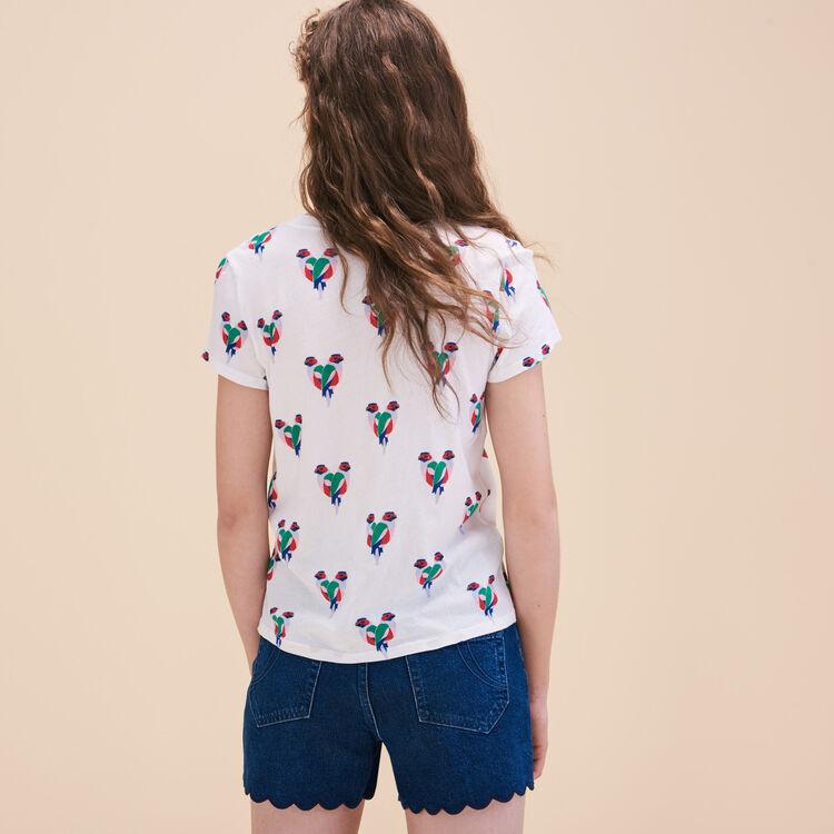 Camiseta con estampado de loros - Tops - MAJE