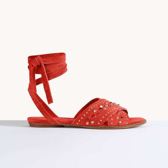 Sandalias planas con tachuelas - Ver todo - MAJE