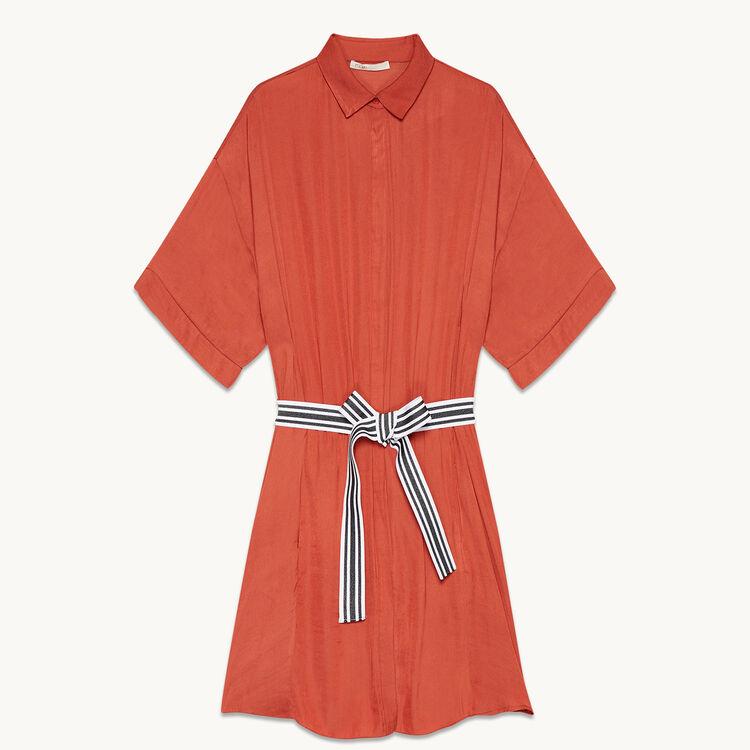 Vestido camisero vaporoso - Vestidos - MAJE