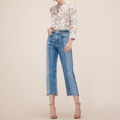 Vaquero recto de denim descolorido - Jeans - MAJE
