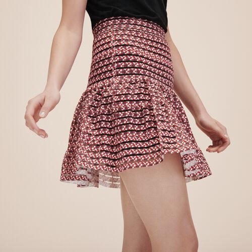 Falda con bandas elásticas - Faldas y shorts - MAJE