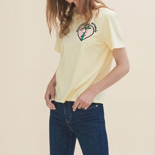 Camiseta bordada Miércoles - Tops - MAJE