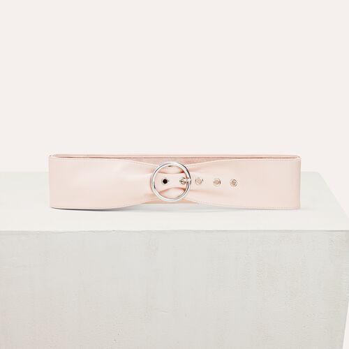 Cinturón ancho de piel - Cinturones - MAJE