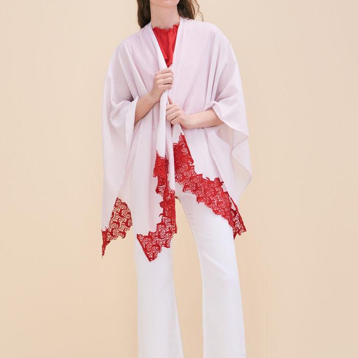 Poncho con encaje - Pañuelos y Bufandas - MAJE