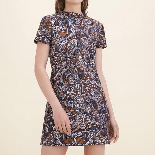 Vestido recto de jacquard - Vestidos - MAJE