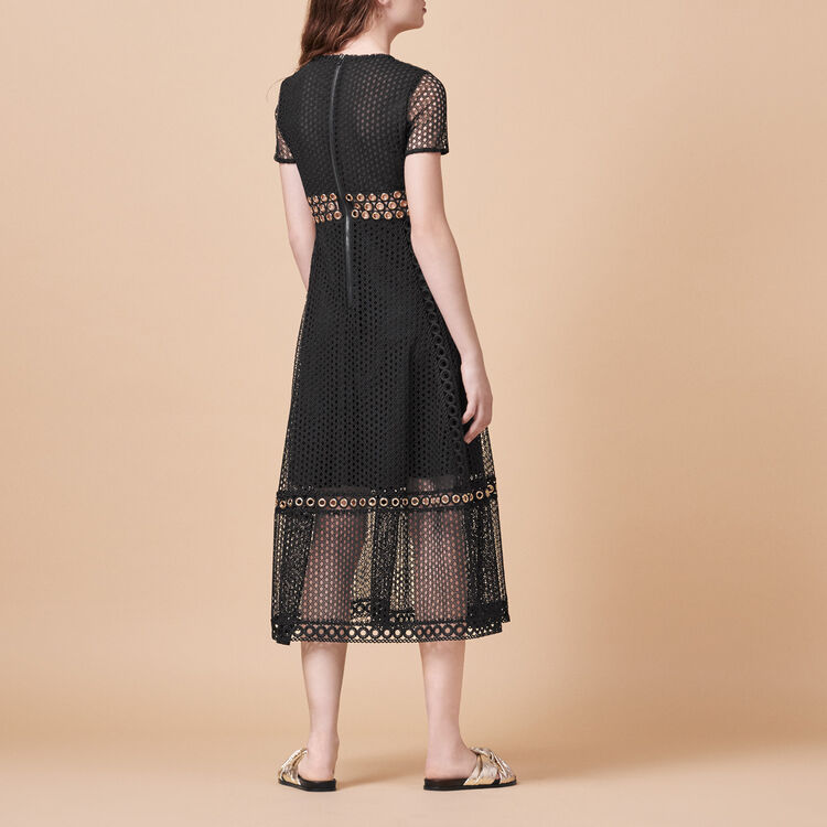 Vestido largo con bordado - Vestidos - MAJE