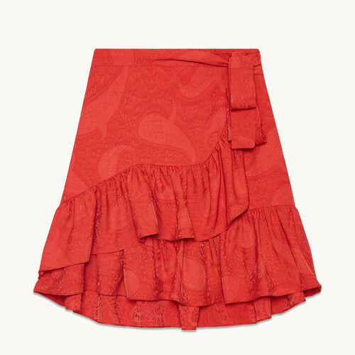 Falda con faldón y volantes - Faldas y shorts - MAJE
