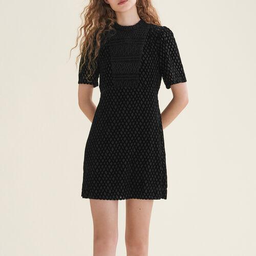 Vestido corto con plastrón - Vestidos - MAJE
