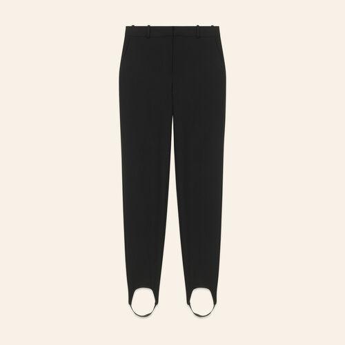 """Pantalón """"fuseau"""" de crepé - Pantalones - MAJE"""