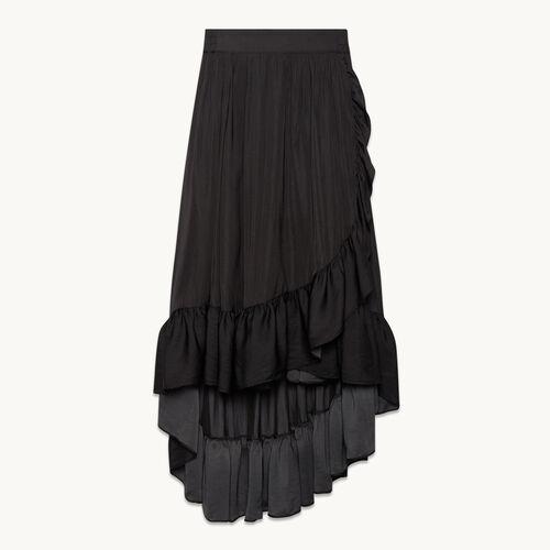 Falda larga con volantes - Faldas y shorts - MAJE