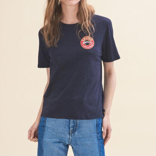 Camiseta bordada Martes - Tops - MAJE