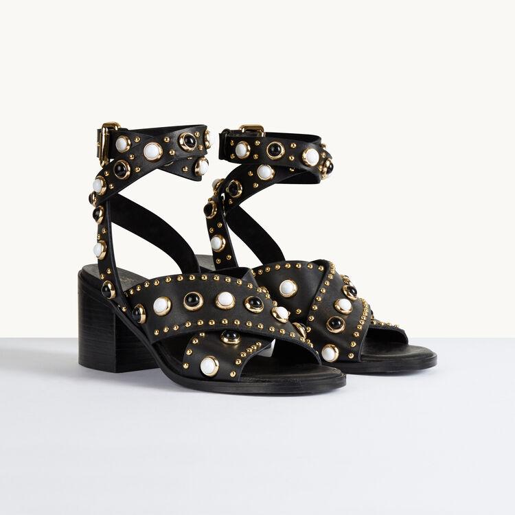Sandalias de tacón con tachuelas - Zapatos - MAJE