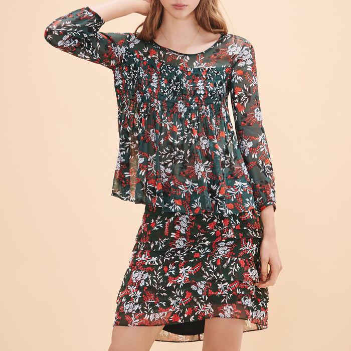 Falda corta estampada asimétrica - Faldas y shorts - MAJE