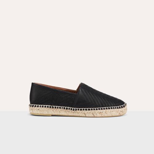 Alpargata de piel con bordados - Zapatos - MAJE