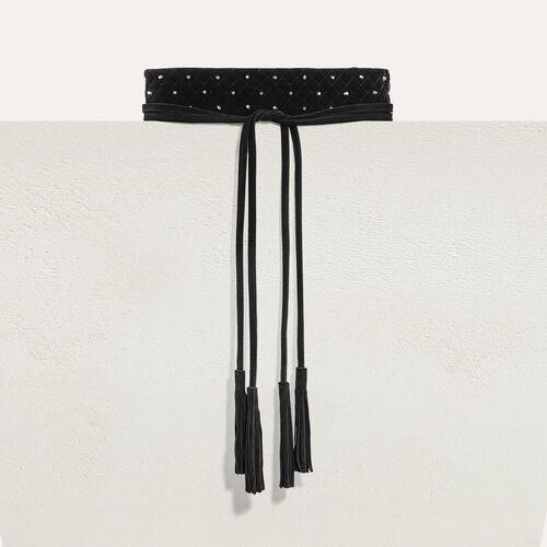 Cinturón ancho anudado con tachuelas - Cinturones - MAJE