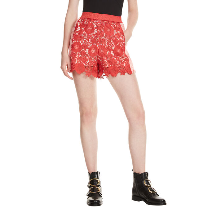Short de guipur - Faldas y shorts - MAJE