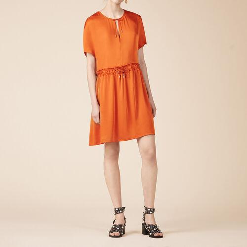 Vestido vaporoso de manga corta - Vestidos - MAJE