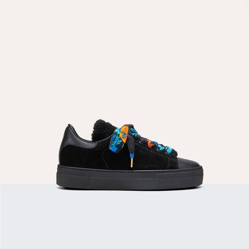 Zapatillas deportivas doble género piel - Zapatos - MAJE