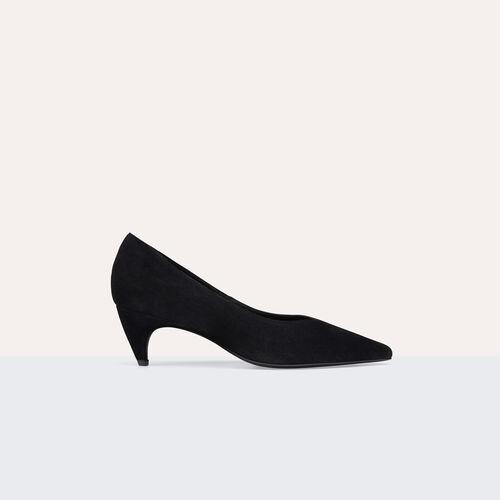 Zapato salón de cabra con costura - Zapatos - MAJE