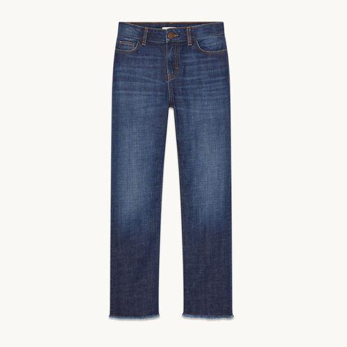 Vaquero recto de algodón stretch - Jeans - MAJE