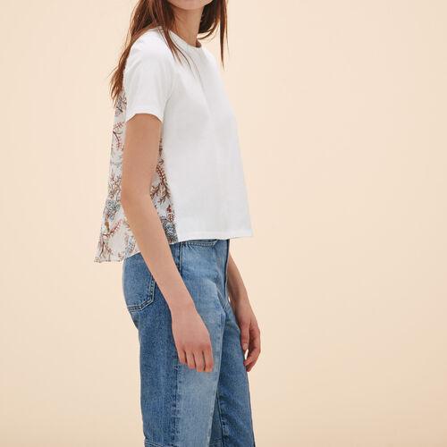 Camiseta con estampado en la espalda - Tops - MAJE