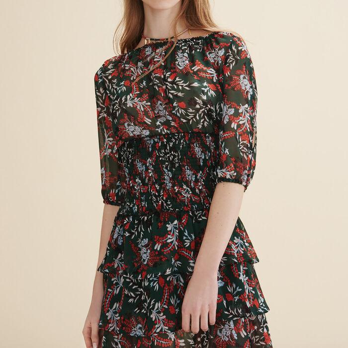 Vestido corto con volantes - Vestidos - MAJE