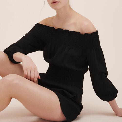 Monoshort con fruncidos - Faldas y shorts - MAJE