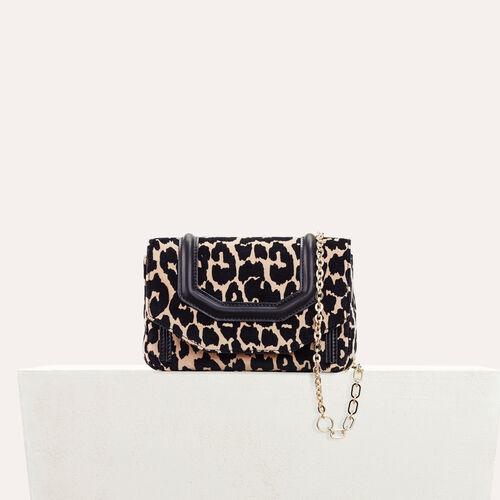Bolso de noche estampado de leopardo - Bolso en el hombro - MAJE